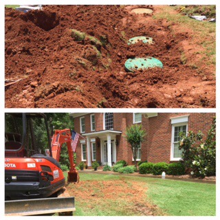 In Milton, GA, Action Septic Tank Service installed septic tank risers